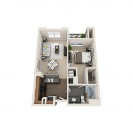 Bell Denver Tech Center One Bedroom floor plan