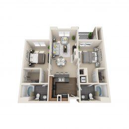 Bell Denver Tech Center Two Bedroom Floor Plan