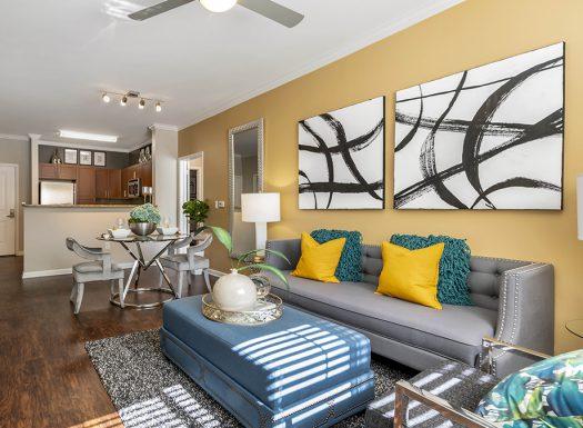 BellDenverTechCenter_Model Living Room and Kitchen
